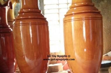 Lục bình gỗ Sơn vân cực đẹp, Gỗ nguyên khối cao 1.6m