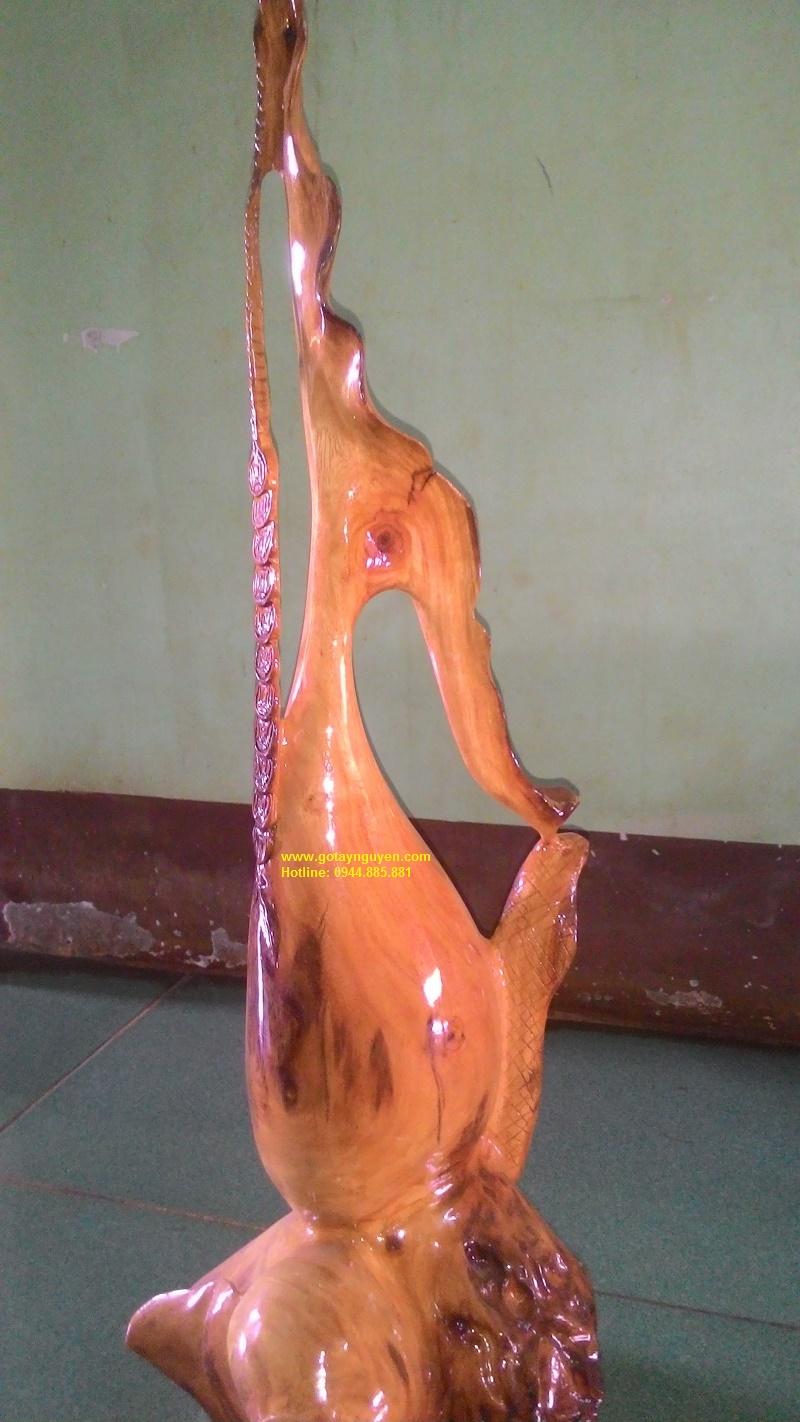 Bình gỗ nghệ thuật kate