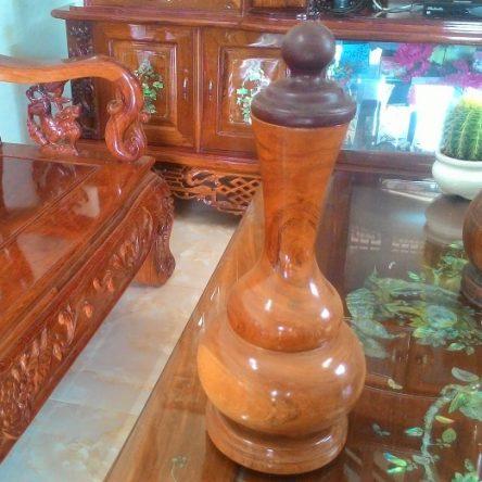 Bình hồ lô gỗ hương