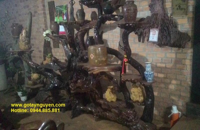 Bộ Tứ linh gỗ hương