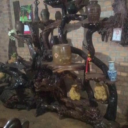 Bộ Tứ linh gỗ hương cao cấp