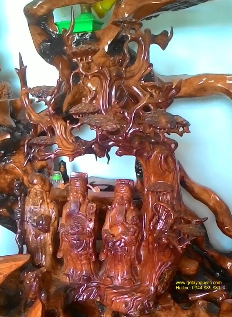 Phúc Lộc Thọ gỗ hương