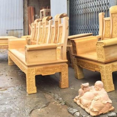 Bàn ghế gỗ Dổi đóng hộp