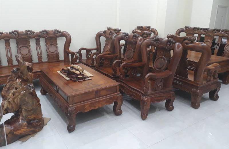 Bàn ghế gỗ cẩm lai 10 món