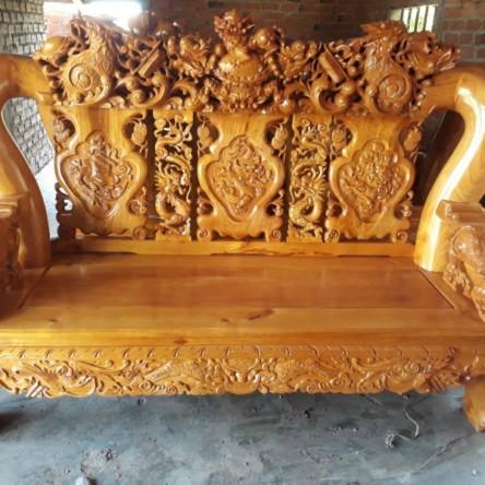 Bàn ghế gỗ gõ đỏ cột 20