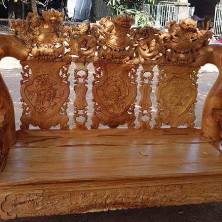 Bàn ghế gỗ Gõ đỏ cột 16