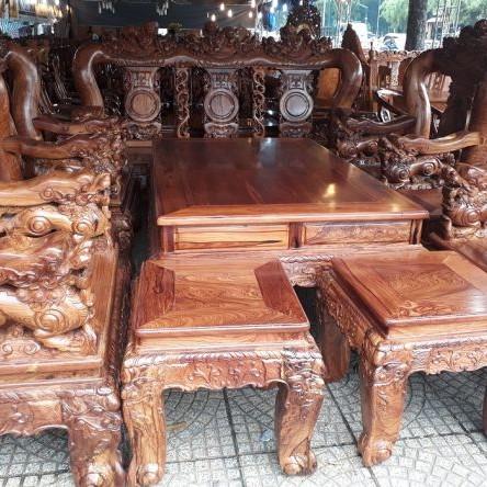 Bộ bàn ghế gỗ Cẩm Lai Khủng Cột 18 Quá VIP