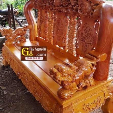 Bàn ghế gỗ Cà Te tay 18